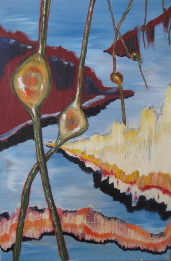 Great Pods of Sargasso, Russell Steven Powell oil on canvas, 24x36