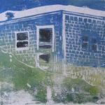 Euphoria, June, 7 p.m., Russell Steven Powell acrylic on paper linoprint, 10