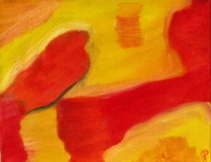 The Runner, Russell Steven Powell oil on canvas, 14x11