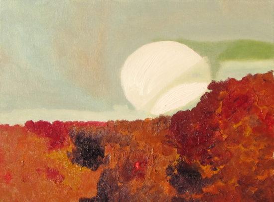 Full Moon Dunes, Russell Steven Powell oil on canvas, 14x11