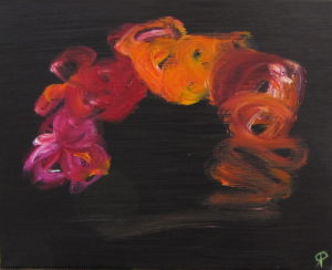 Blush, Russell Steven Powell oil on canvas, 20x16
