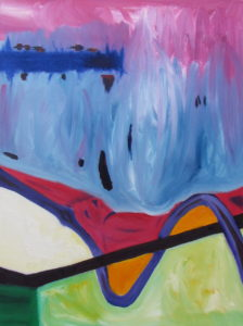 Downstream (Right Panel), Russell Steven Powell oil on canvas, 18x24