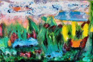 Marshland, Russell Steven Powell oil on canvas, 24x36