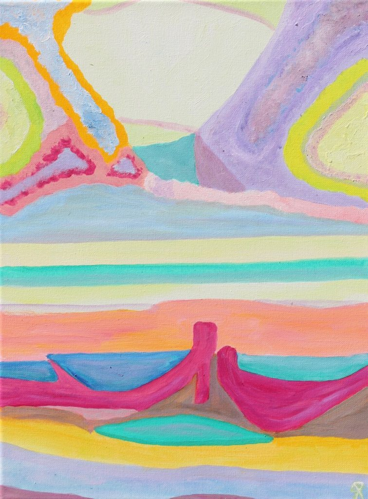 FL20, Russell Steven Powell acrylic on canvas, 12x16