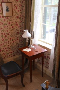 Emily Dickinson's writing desk and window. (Jonathan A. Wright photo)