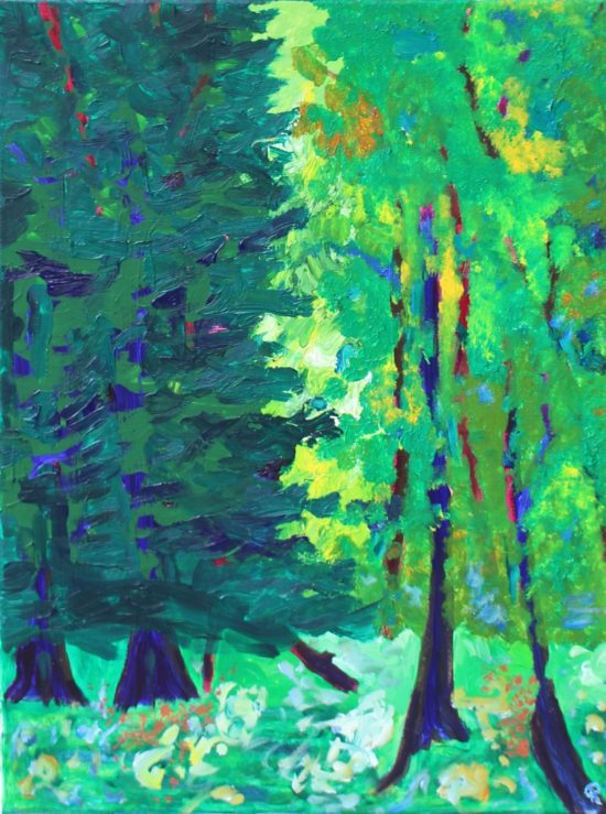 Glade, Russell Steven Powell acrylic on canvas, 24x18