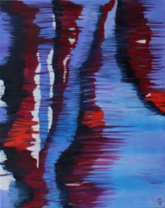 Stream, Russell Steven Powell oil on canvas, 20x16
