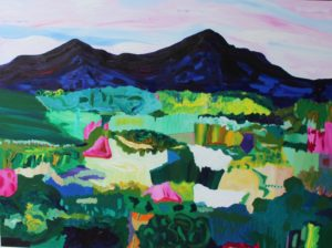 Whiteface and Passaconaway 2, Russell Steven Powell acrylic on canvas, 36x48