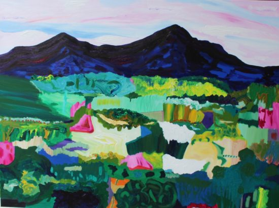Whiteface and Passaconaway 2, Russell Steven Powell acrylic on canvas, 48x36