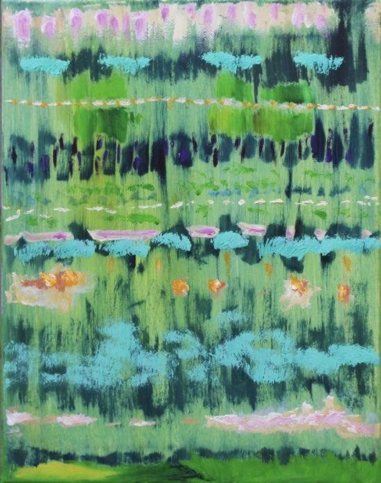 Garden, Russell Steven Powell oil on canvas, 14x11