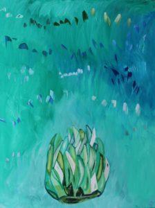 Artichoke, Russell Steven Powell oil on canvas, 40x30
