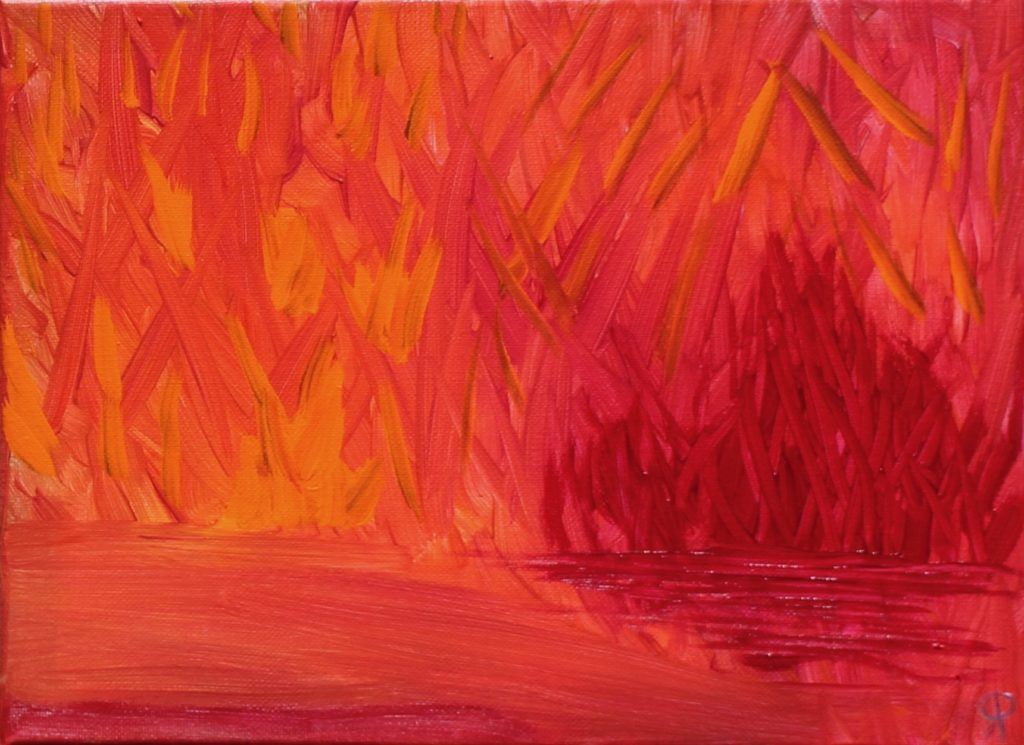 12 Florida18, Russell Steven Powell acrylic on canvas, 9x12