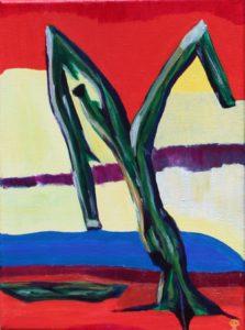 Florida Tree, Russell Steven Powell acrylic on canvas, 12x9