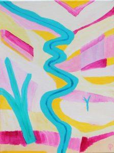 24 Florida18, Russell Steven Powell acrylic on canvas, 12x9