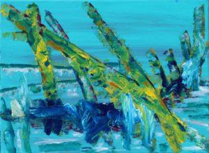 Florida Coast 23, Russell Steven Powell acrylic on canvas, 9x12