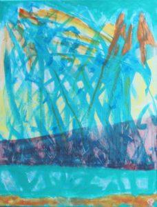 Florida Coast 28, Russell Steven Powell acrylic on canvas, 14x11