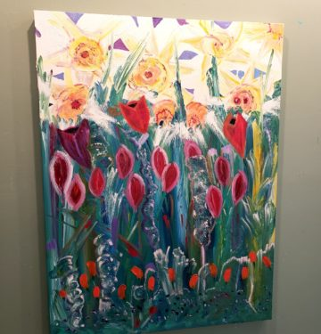Daffs, Russell Steven Powell oil on canvas, 40x30