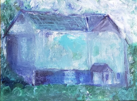 Barn 4, Russell Steven Powell acrylic on canvas board, 12x16