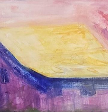 Barn 1, Russell Steven Powell acrylic on canvas, 8x10