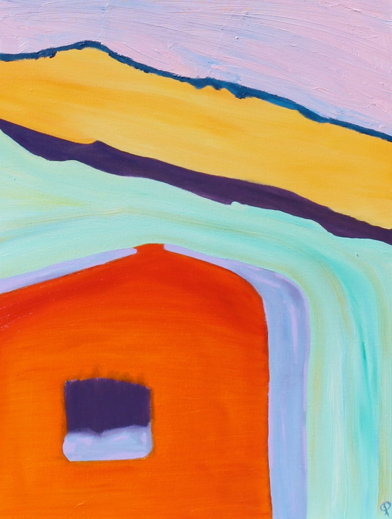 Barn IX, Russell Steven Powell oil on canvas, 16x20