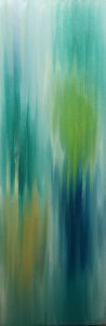 Abstract 38, Russell Steven Powell oil on canvas, 36x12