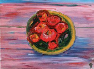 Thalassa 1, Russell Steven Powell acrylic on canvas, 9x12