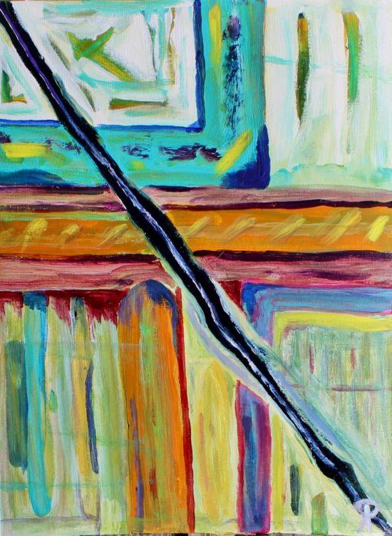 Thalassa 23, Russell Steven Powell acrylic on paper, 12x9