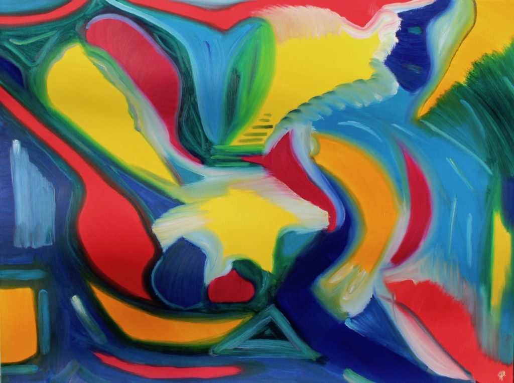 Abstract 50, Russell Steven Powell oil on canvas, 30x40