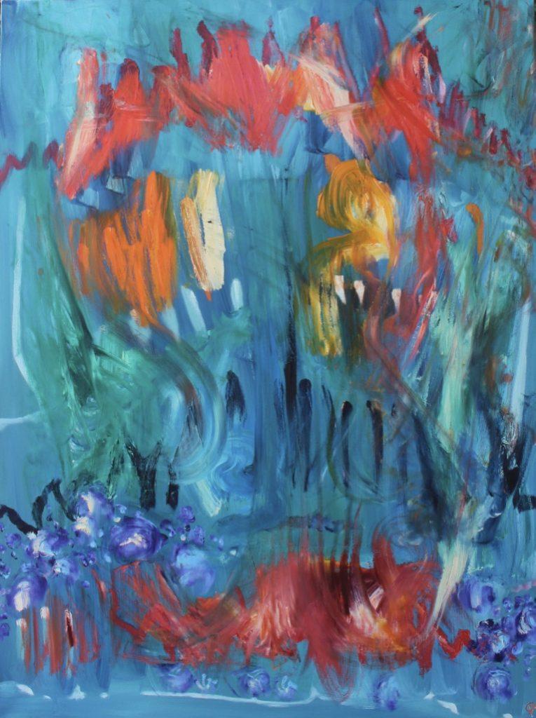 June Garden, Russell Steven Powell oil on canvas, 48x36