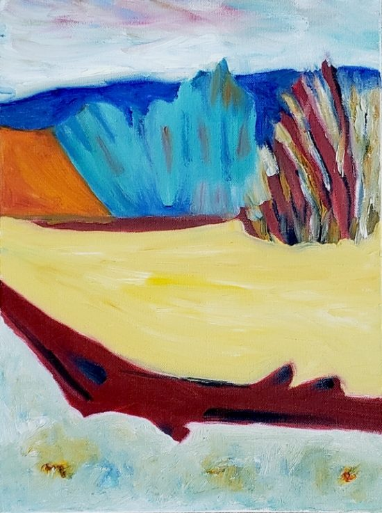 Dunes, Russell Steven Powell oil on canvas, 16x12