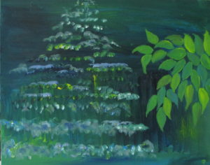 """Out The East Window, Russell Steven Powell oil on canvas, 24""""x18"""""""