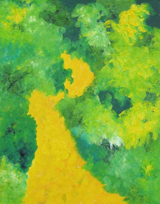 Spring Foliage, Russell Steven Powell oil on canvas, 20x16