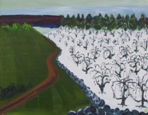 Orchard I, Russell Steven Powell oil on canvas, 16x20