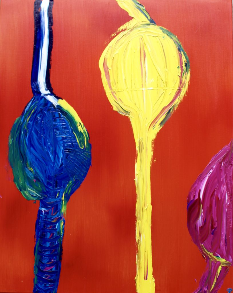Primary Pods, Russell Steven Powell oil on canvas,30x24