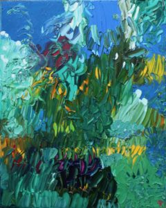 The Paletteable Garden 4, Russell Steven Powell oil on canvas, 20x16