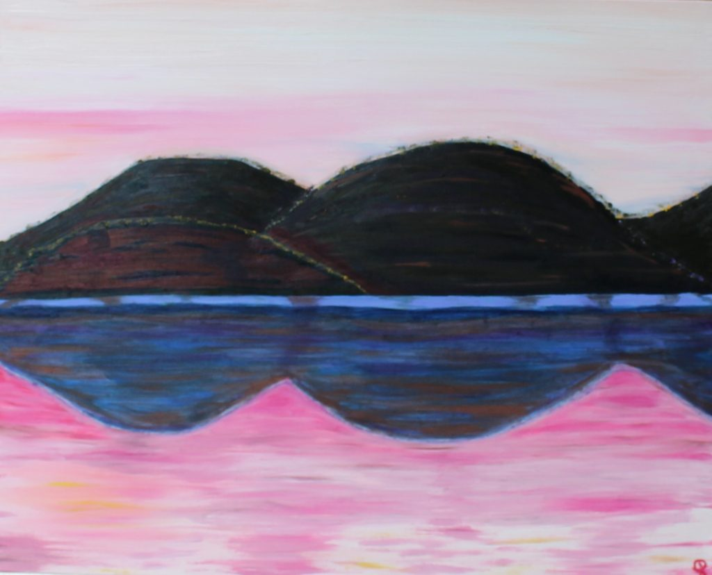 Oxbow 1, Russell Steven Powell oil on canvas, 30x24