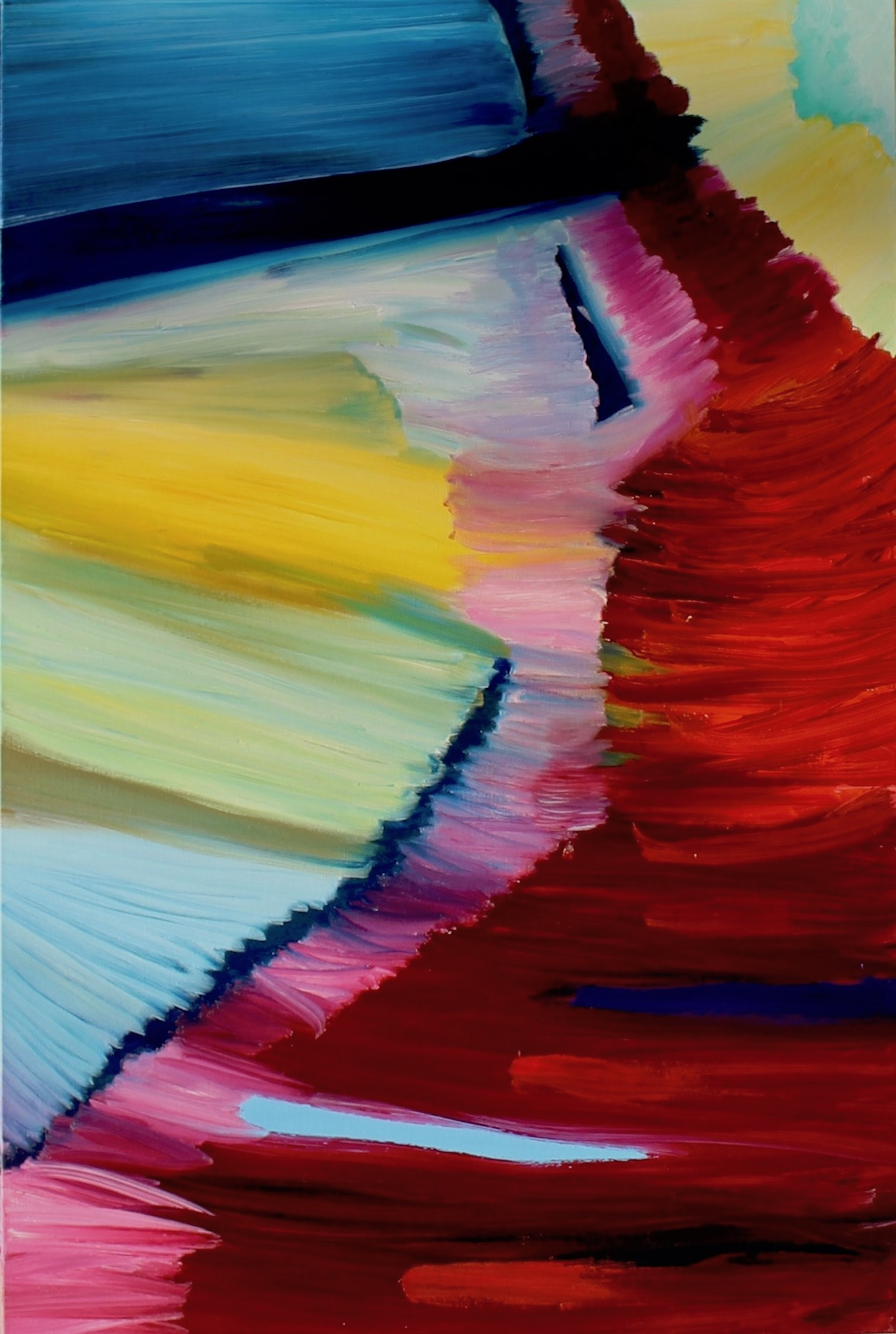 Flow, Russell Steven Powell oil on canvas, 36x24