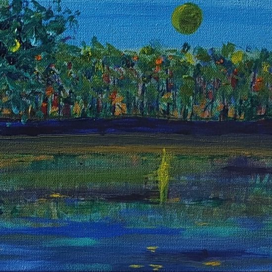 River View, Russell Steven Powell acrylic on canvas, 10x8