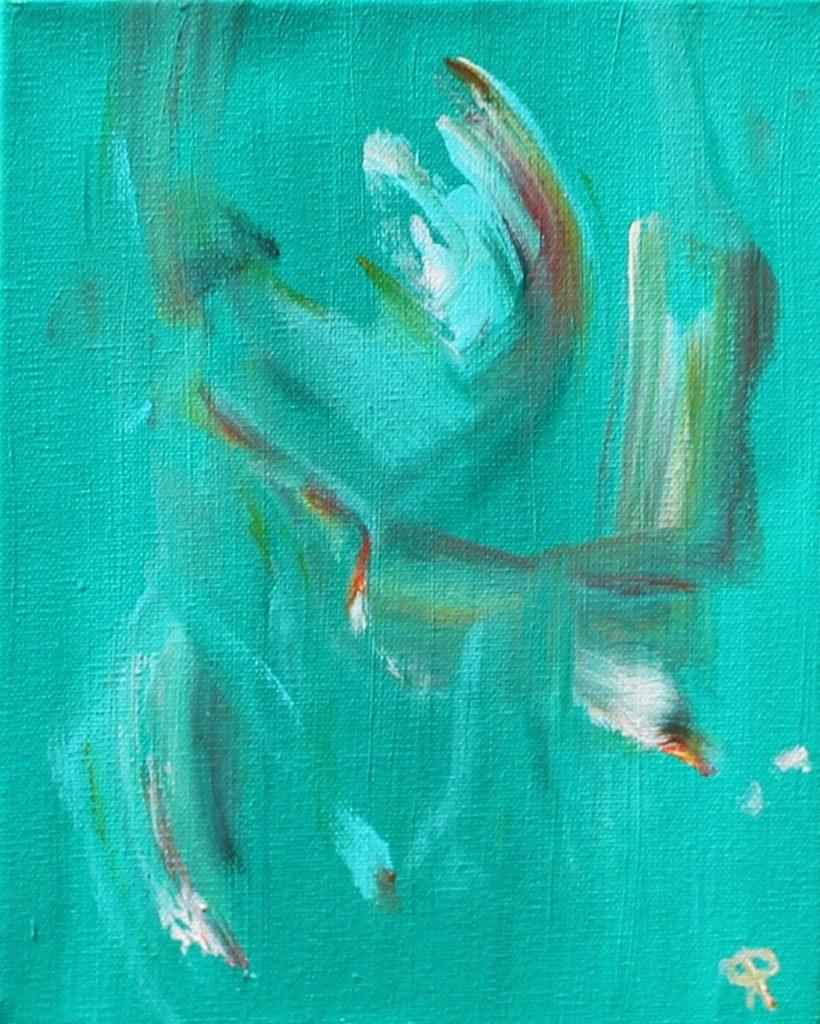 25 Florida18, Birds Six, Russell Steven Powell acrylic on canvas, 10x8