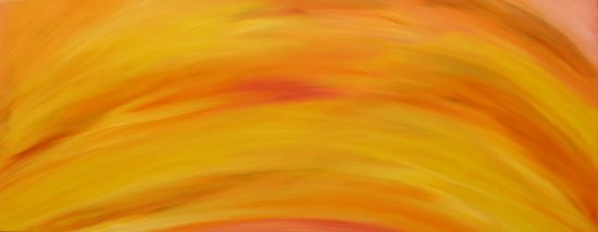 Rise, Russell Steven Powell oil on canvas, 16x40
