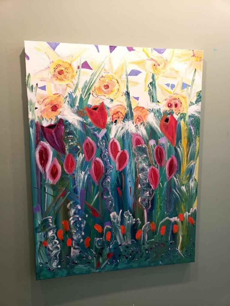 Daffs, Russell Steven Powell oil on canvas, 40x30