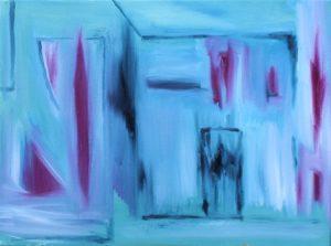 Barn 5, Russell Steven Powell oil on canvas, 9x12