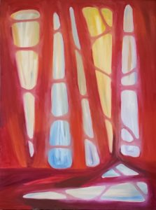 Five O'Clock Forest (Aperture 5), Russell Steven Powell oil on canvas, 24x18