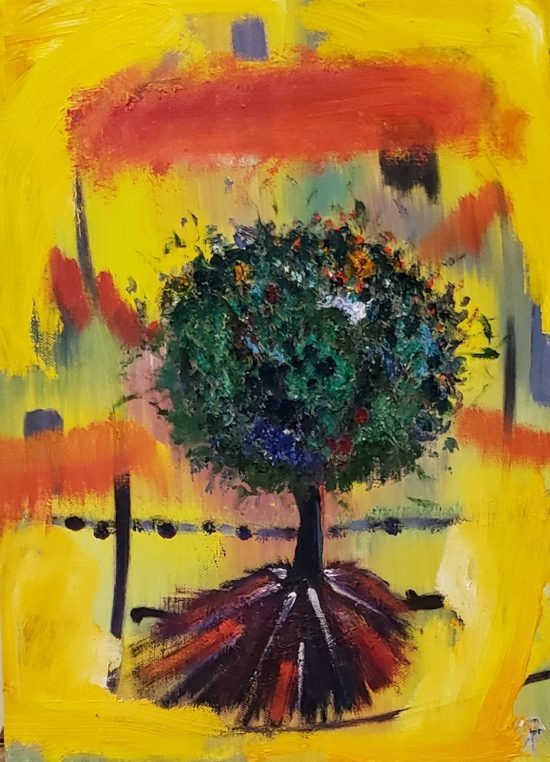 Tree, Russell Steven Powell oil on canvas, 16x12