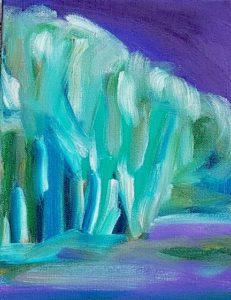 Grove, Russell Steven Powell oil on canvas, 10x8