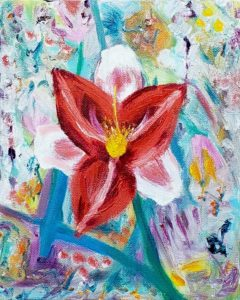 Day Lily, Russell Steven Powell oil on canvas, 10x8