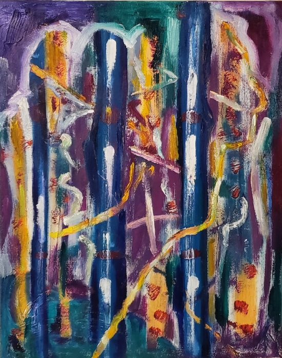 Into the Forest, Russell Steven Powell oil on canvas, 20x16