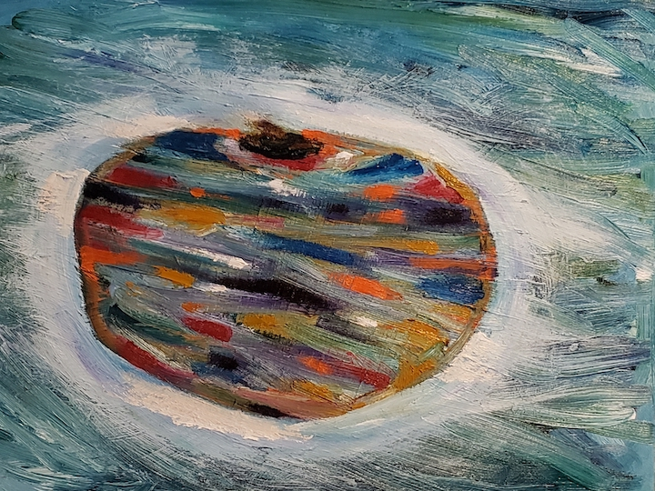 Apple, Russell Steven Powell oil on canvas, 12x16