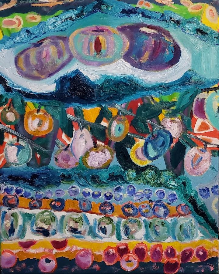 Garden Dreams, Russell Steven Powell oil on canvas, 20x16