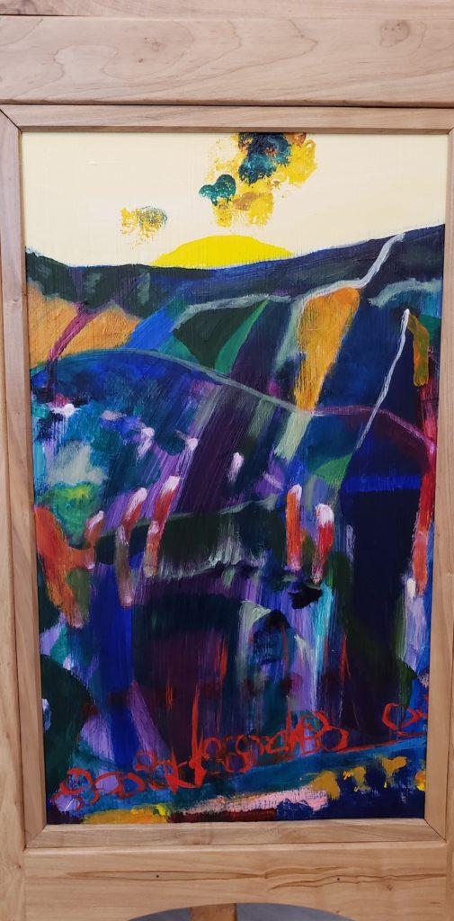 Bottom panel 1, Russell Steven Powell acrylic on wood, 21x12